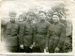 Лебедев А.И., второй  слева